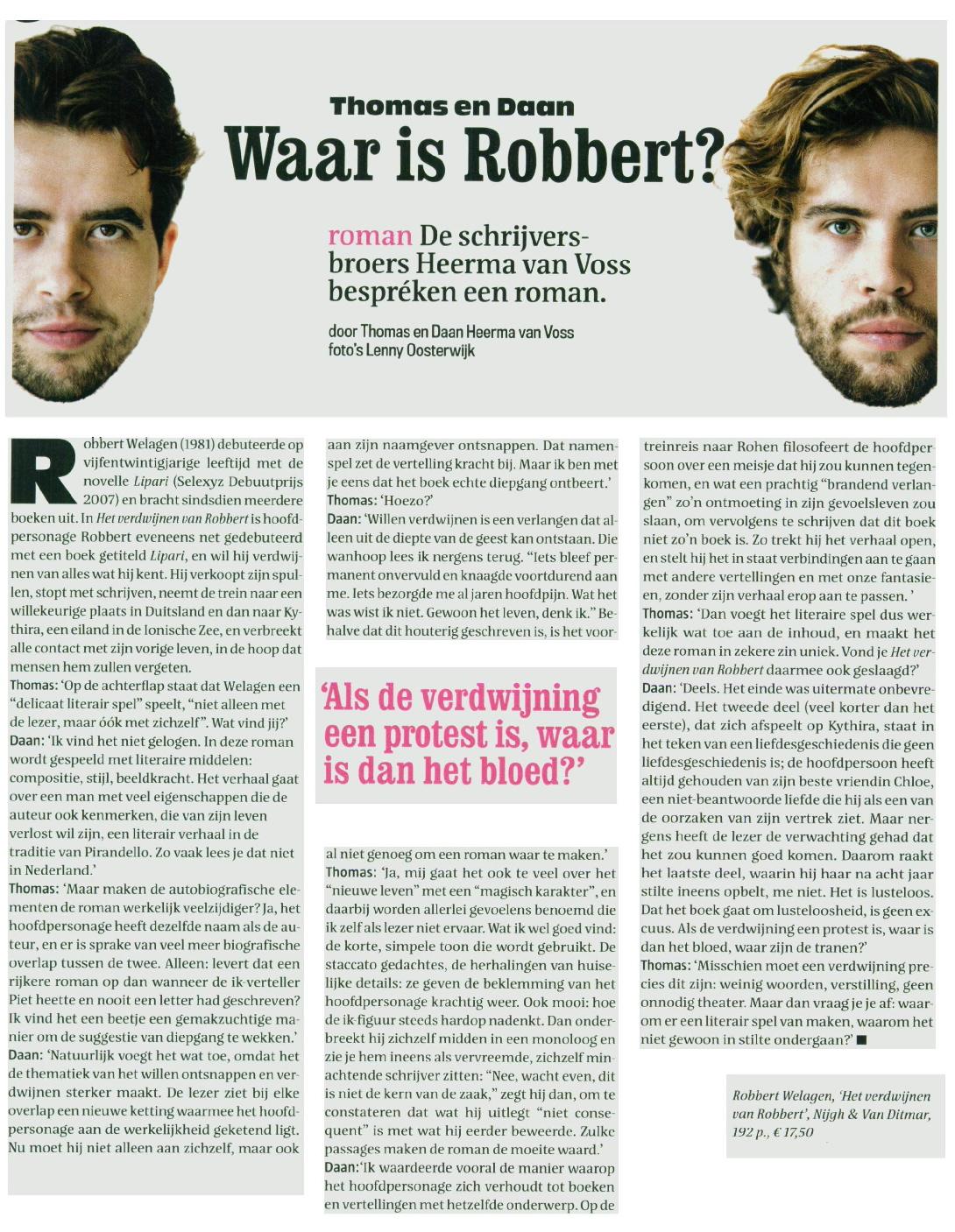 vrij nederland magazine